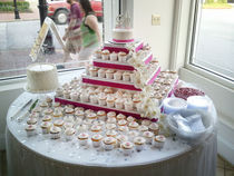Pink Cup Cake Table